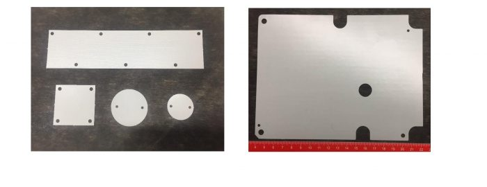 Figure 4: Example of the electrically insulating heat-conducting C stage sheet, contoured according to customer specifications, in order to achieve an optimal mechanical adaptation of the circuit board to the heat sink.